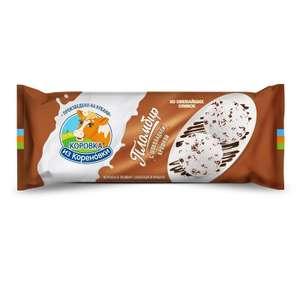 Мороженое Коровка из Кореновки, пломбир с шоколадной крошкой 15%, 400 г