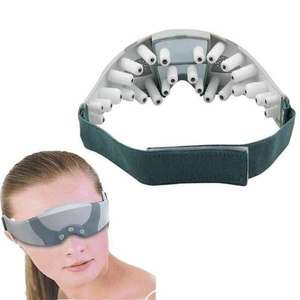 Массажер для глаз (очки-массажеры, 9 режимов работы, от сети или батареек)