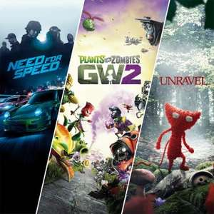 Need for Speed™ + Plants vs. Zombies™ Garden Warfare 2 + Unravel (PS4)