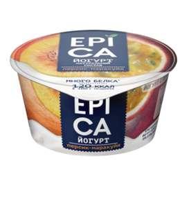 [Красноярск] Йогурт EPICA с персиком и маракуйей 4,8%, без змж, 130г