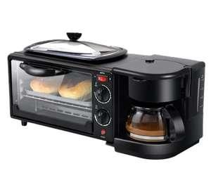 Многофункциональная машина для завтрака 3 в 1 (кофеварка, духовка, плита)