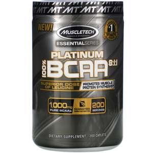 -20% на спортивное питание Iovate (напр. Muscletech, Platinum 100% BCAA, 1000 мг, 200 капсул)
