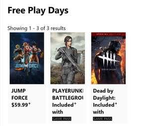 [Xbox Gold] Бесплатные выходные: PLAYERUNKNOWN'S Battlegrounds и Dead by Daylight: Special Edition