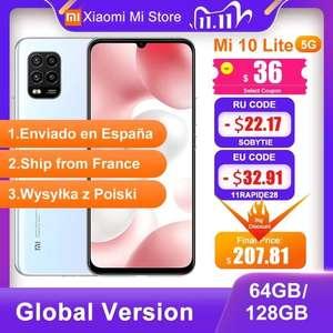 Смартфон Xiaomi Mi 10 Lite 5G 6/64 с 11.11
