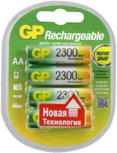 [Мск] Аккумуляторная батарейка GP АА (HR6) 2300x4шт в Ozon express (и другие в описании)