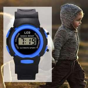 Детские светодиодные спортивные цифровые водонепроницаемые часы
