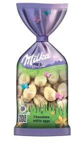 Шоколадные яйца Milka Мини с белым шоколадом, 100 г