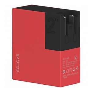 Внешний аккумулятор Xiaomi Solove 5000 mAh, красный