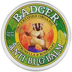 Бальзам с защитой от насекомых Badger с цитронеллой и розмарином, 56 г