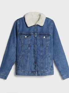 Женская джинсовая куртка с отделкой из искусственной овчины