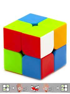 Кубик Рубика - Рубики MOYU MFJS 3х3, 2x2 MEILONG