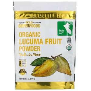 Суперфуд органический порошок из плодов лукумы California Gold Nutrition 240 г