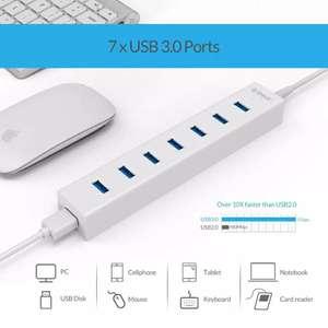 Хаб на 7 портов USB3.0 ORICO + внешнее питание