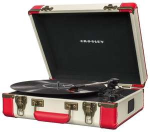 Виниловый проигрыватель Crosley Executive Portable (Красно-белый)