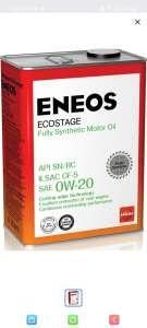 Синтетическое масло для японских авто Eneos Ecostage Fully Synthetic 0w-20 4 л