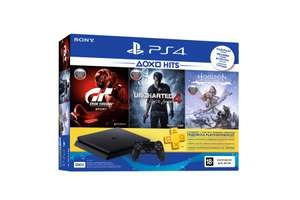 PS4 Slim 500GB + 3 топ игры