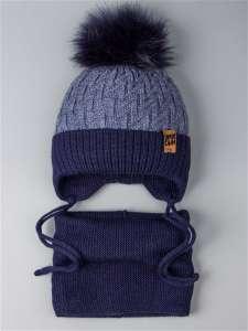 РусБубон комплект шапка вязаная и снуд