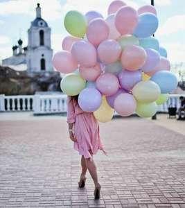Воздушные шары Macaroons, М12/30см, 100 штук