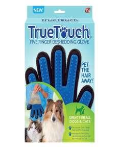Перчатка для вычесывания шерсти домашних животных NAC True Touch
