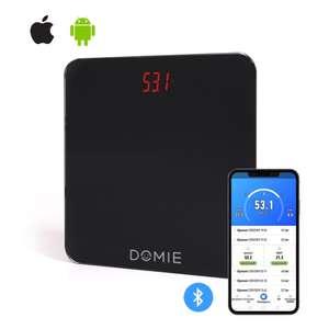 Весы электронные DOMIE с функцией Bluetooth и цифровым дисплеем (до 180 кг)