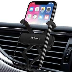 Алюминиевый гравитационный держатель смартфона в автомобиль