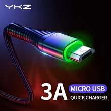 YKZ LED 3A USB Type C кабель