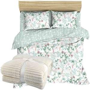 Скидка 50% на постельные принадлежности и пледы