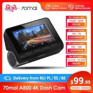 Видеорегистратор 70mai A800 4K GPS c 11.11