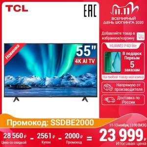 [11.11] Телевизор TCL 55P615 4K UHD Smart TV