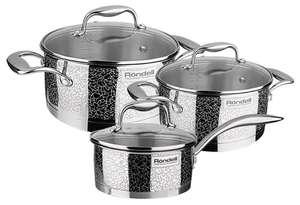 Набор посуды Rondell Vintage RDS-379 6 пр. стальной