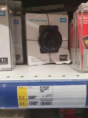 Внешний жесткий диск WD Elements 500 Гб
