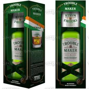 Виски Trouble Maker 0,7 л в подарочной упаковке со стаканом