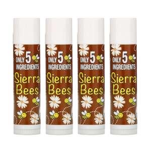 Органические бальзамы для губ Sierra Bees, кокос, 4 шт. по 4,25 г