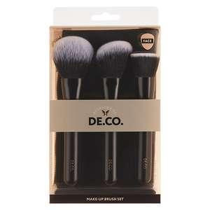 Набор кистей для макияжа лица DECO, 3 шт