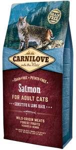 Сухой корм Brit Carnilove Sensitive&Long Hair Salmon for Adult Cats с лососем для улучшения состояния шерсти кошек