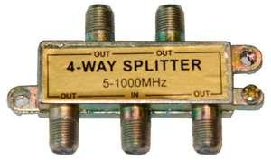 Разветвитель ТВ сигнала 1 вход 4
