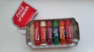 Бальзам для губ Lipsmacker Coca cola увлажняющий/смягчающий, набор 6 шт * 4 г.