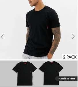 Набор из 2 черных футболок HUGO bodywear (размеры M - XL)