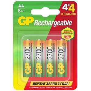 Аккумулятор GP АА HR6 8 шт. GP270AAHC4/4MVM-2CR8 4+4