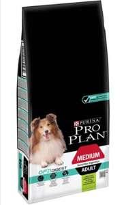 Сухой корм для собак Pro Plan Optidigest ягненок с рисом, 14 кг (для средних пород)