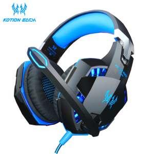 Проводные игровые наушники Kotion Each G4000 blue