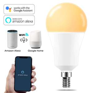 Умная лампочка 15 Вт, E14, Wi-Fi