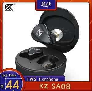 TWS наушники KZ SA08, bluetooth 5.0