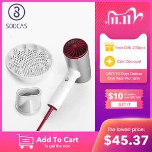 Алюминиевый фен Soocas H5, 1800 Вт