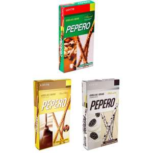 Скидки на продукцию Lotte Пеперо (напр. набор печенья Lotte пеперо 3 вкуса 3 шт.)