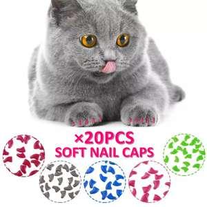 Силиконовые колпачки для когтей 20 шт. (для кошек)