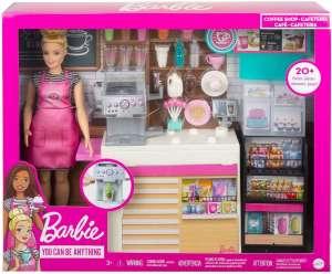 Игровой набор с куклой Barbie Кофейня, GMW03