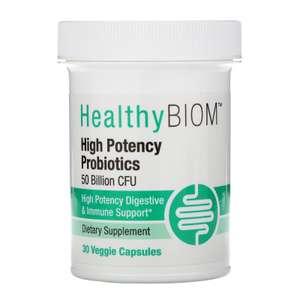 Пробиотики HealthyBiom высокоэффективные, 50 млрд КОЕ, 30 капсул