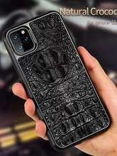Чехол LANGSIDI на iPhone 12 mini (настоящий крокодил, ручная работа)