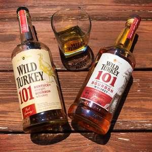 Виски WILD TURKEY 101 зерновой бурбон, 50,5%, 0.7л, США